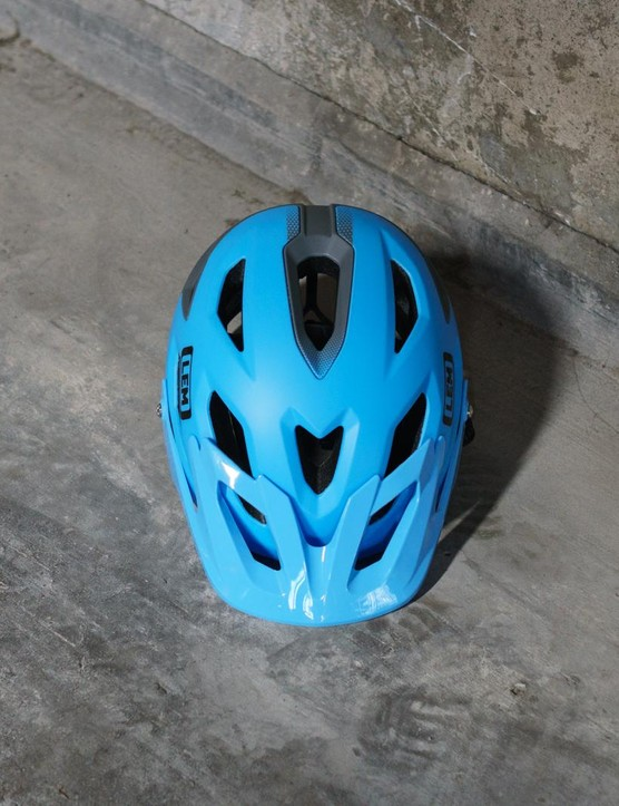 The helmet features 16 vents for plenty of air circulation