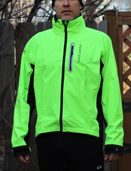 The waterproof Elite jacket is hard to miss, day or night