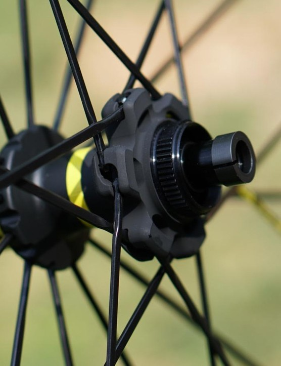 Mavic's UST road wheels come in a variety of builds, from rim-brake to centerlock disc like this