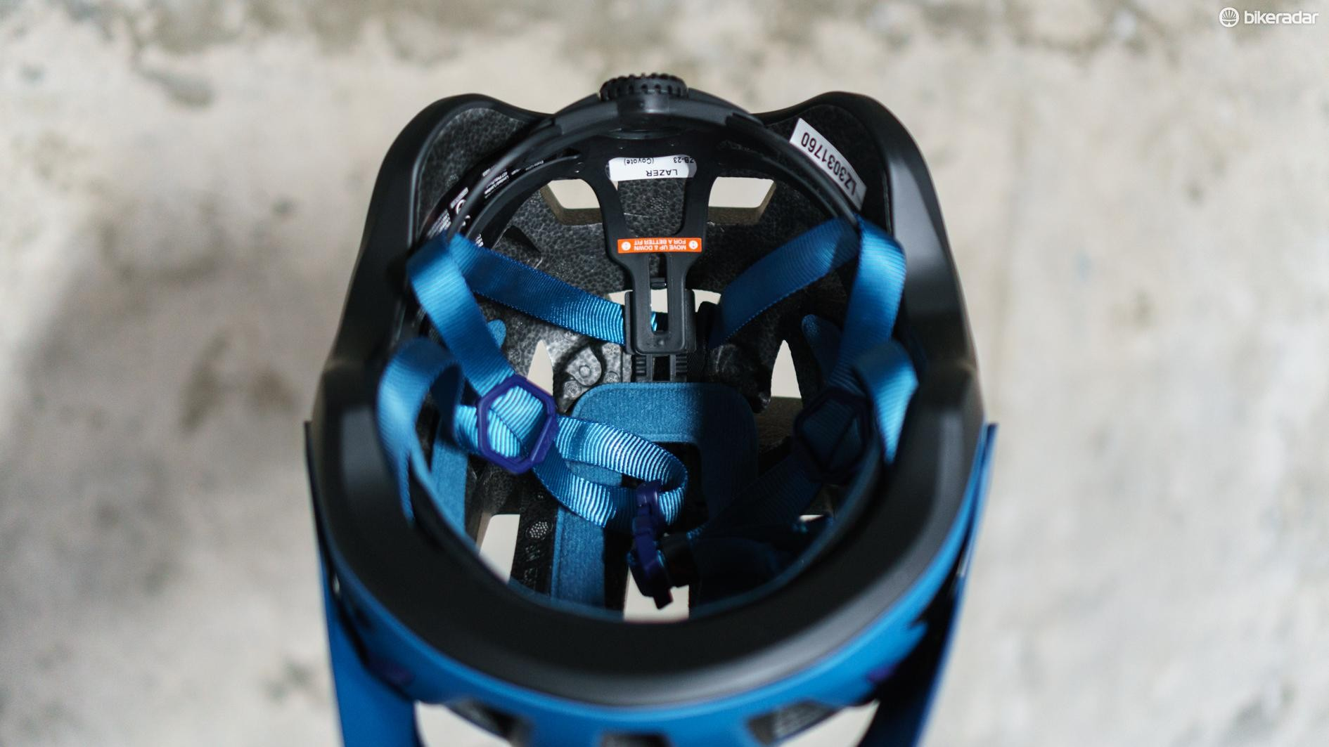The helmet features more adjustability than usual for a cheaper helmet