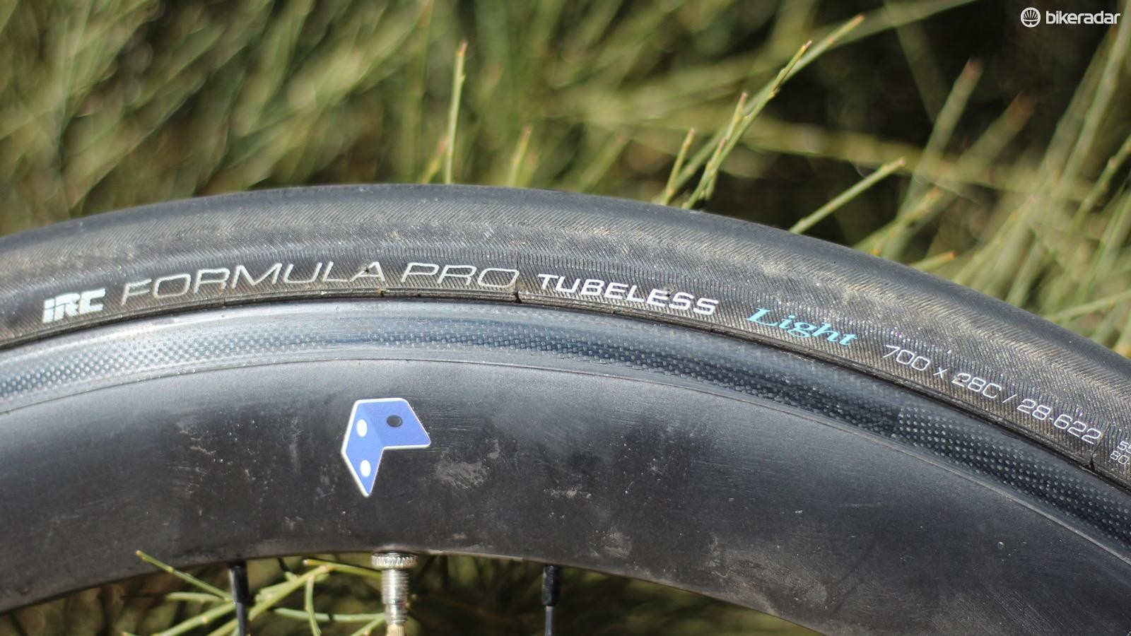 The IRC Road Tubeless Light comes in a few widths. This is the 28mm
