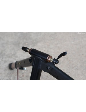 You can use quick release and thru-axle bikes with a switch of end caps and the inner sleeve