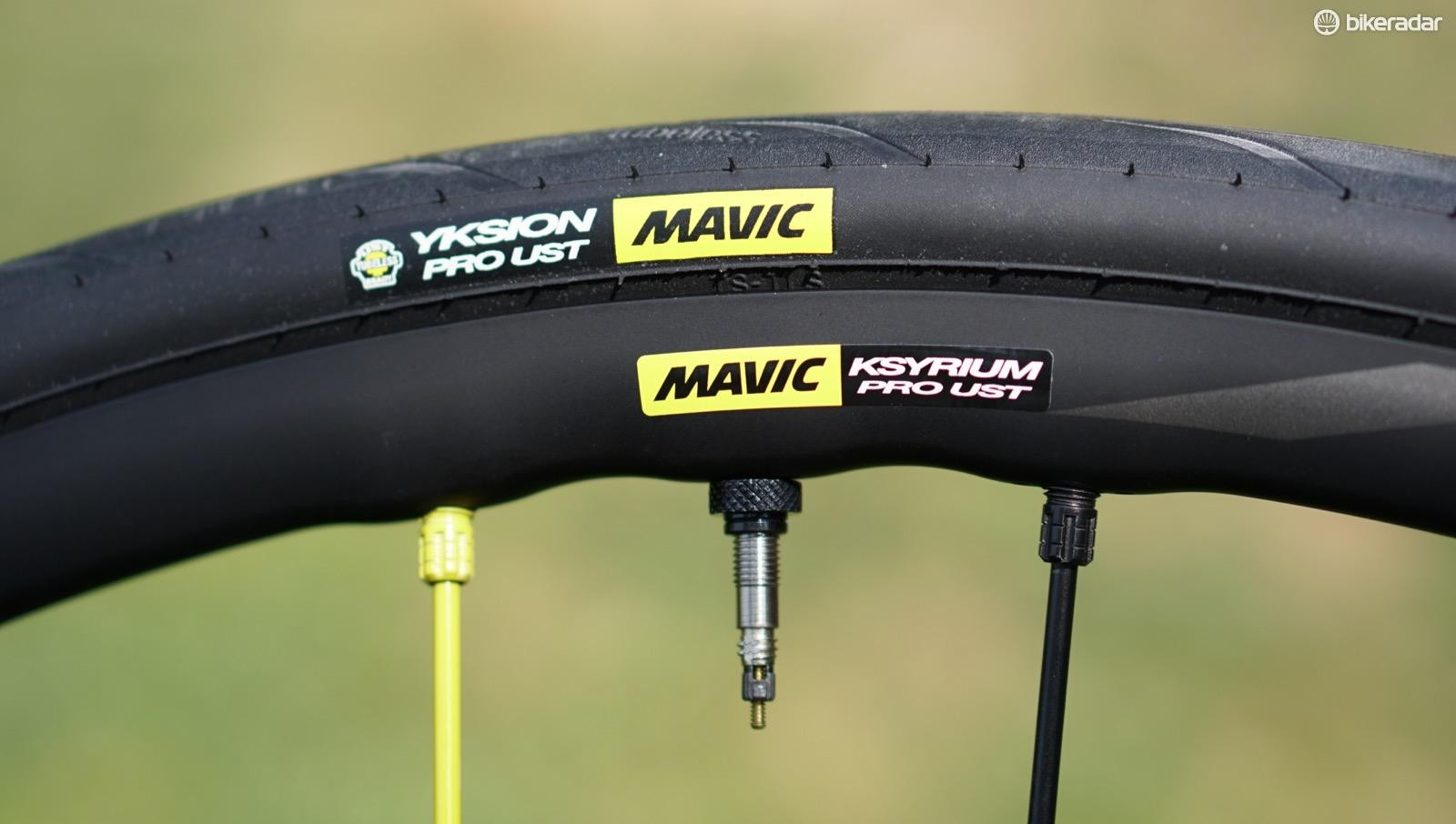 For now, Mavic has 25mm and 28mm Yksion Pro UST tires. More options are in the works