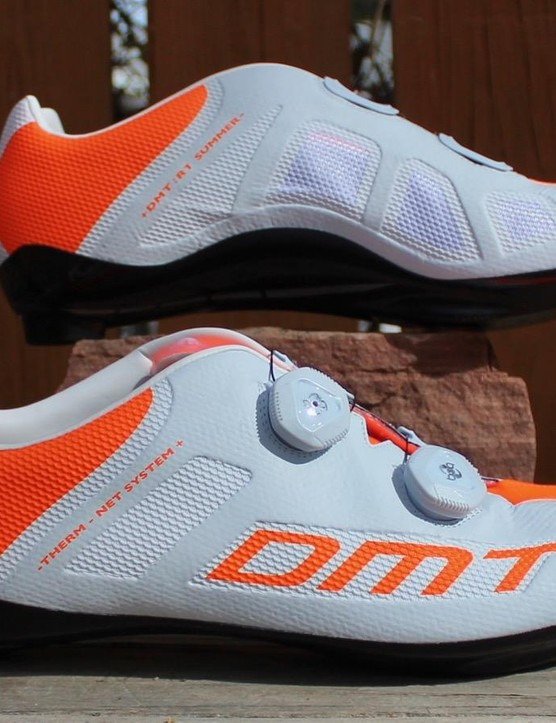 DMT offers this 2017 shoe with four accent options on the white base