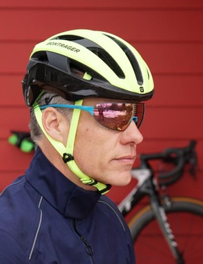 Bontrager's Circuit MIPS helmet features magnetic attachments for lights and/or GoPro cameras — but the helmet looks normal