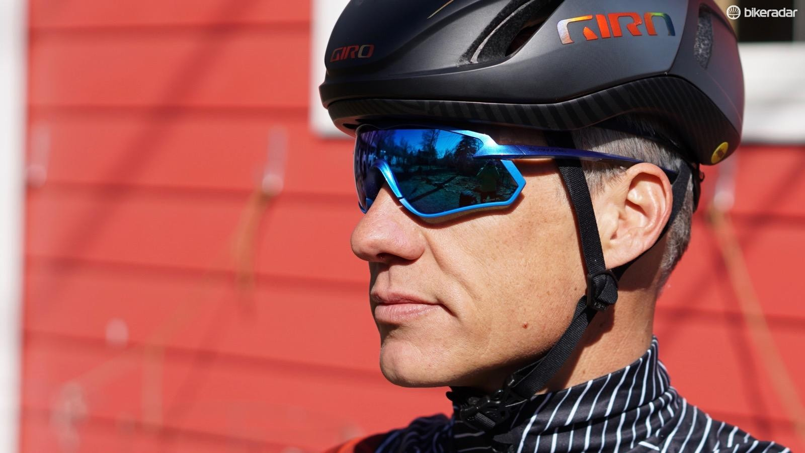 Shimano has two lens tints for its new S-Phyre glasses. One is photochromatic, meaning it darkens under bright light