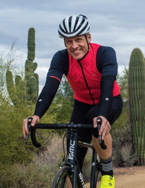 The Velocio Wind Vest is cut in at the front of the shoulders for an on-bike fit