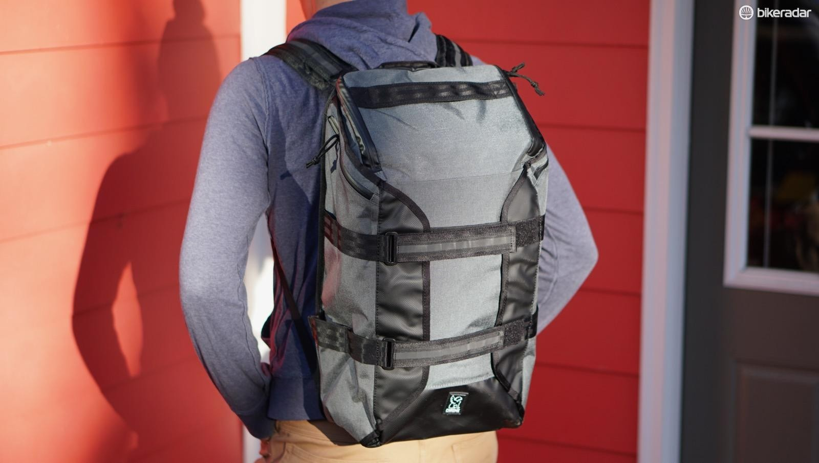 Chrome's Brigade Backpack has a padded laptop sleeve, a big cargo hold, and all manner of external carrying options