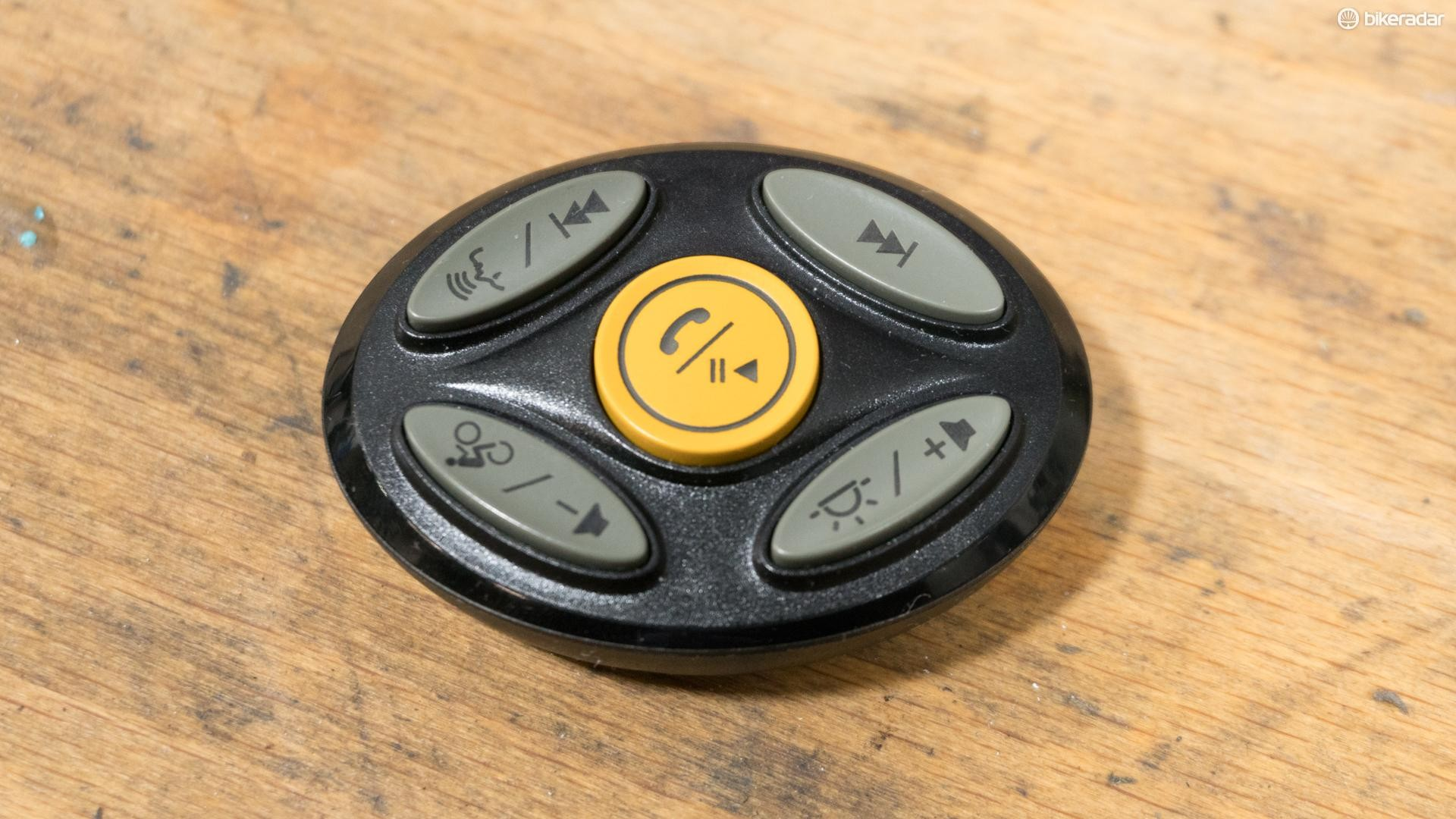 A bar-mounted remote controls the Coros's functions