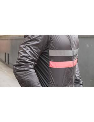 The Brevet jacket features Rapha's distinctive striped detailing
