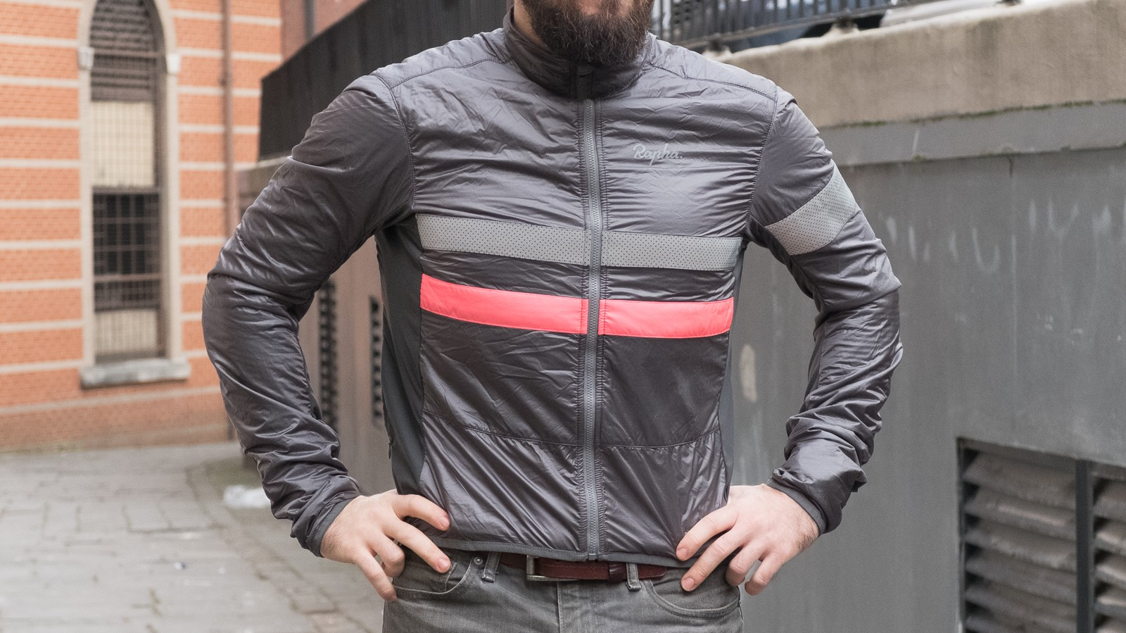 The cut of the jacket is pretty snug, but we think that will help keep you cosy