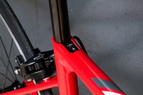 The angled seat clamp bolt is a nice touch