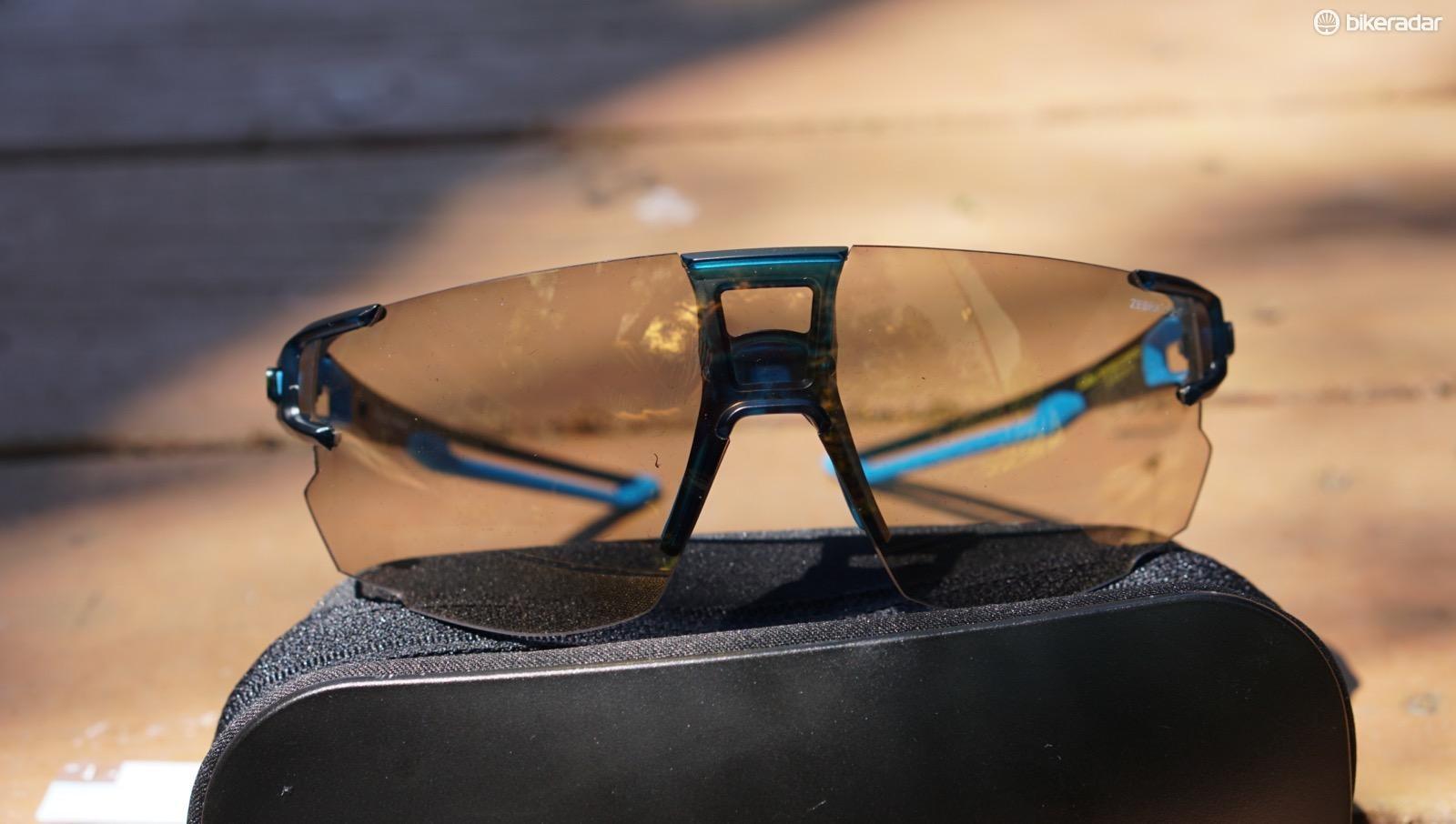 Julbo Aerospeed Zebra sunglasses have a photochromic lens