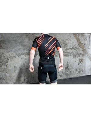 Sportful sent us this geometric, black-and-red striped design