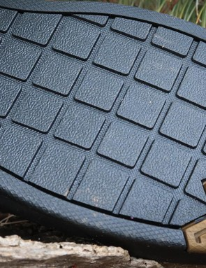 The waffle tread pattern is designed for a consistent pedal feel