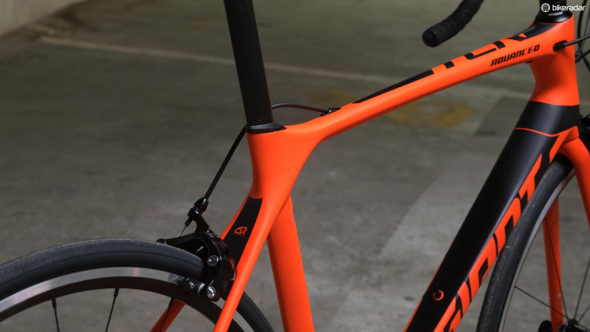 The TCR's ever-changing tube profiles make for a very striking bike