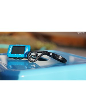Lezyne's Out Front mount uses the company's press-down, eighth-turn engagement