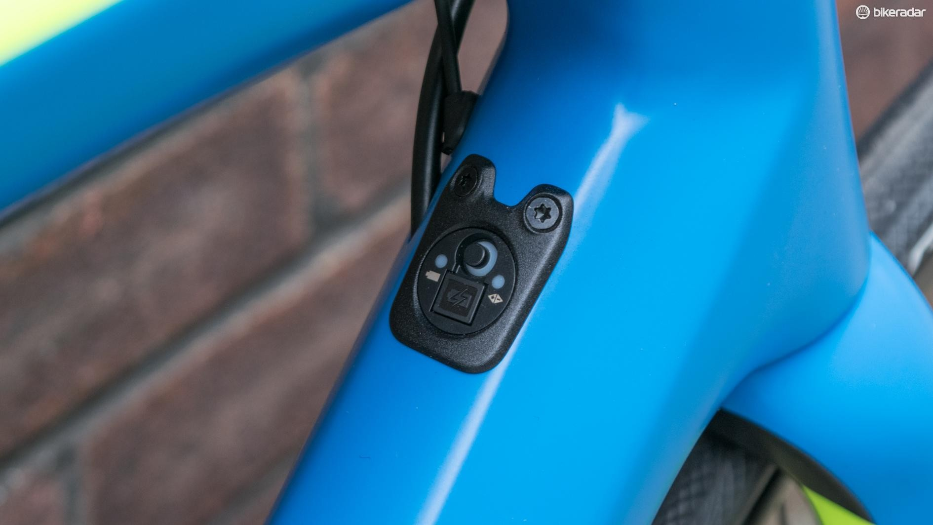 The Di2 charge port on the down tube is a nice touch