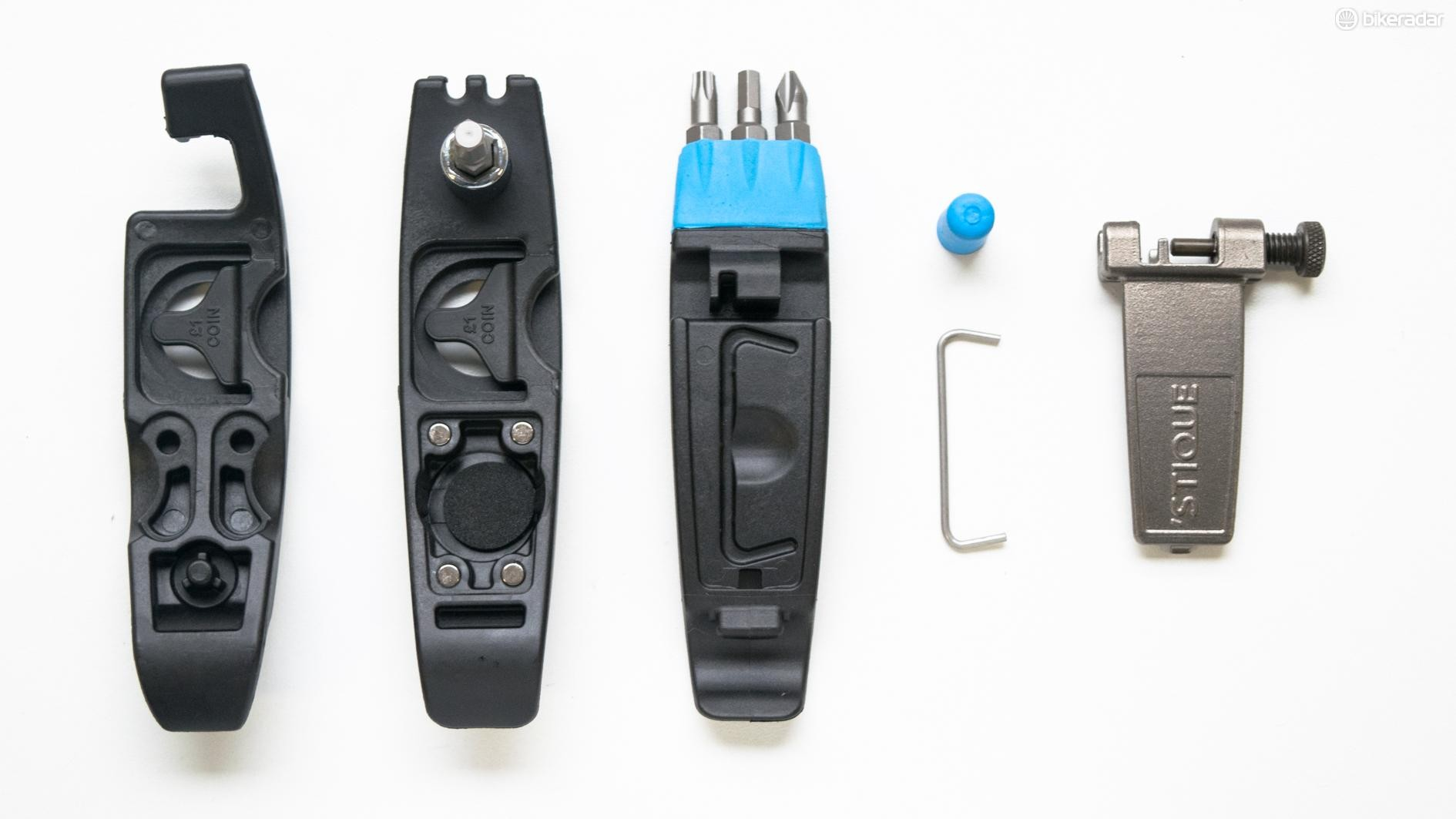 The three levers are held together with small but strong magnets