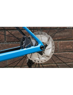 BMC keeps things tidy with flat mount calipers and slickly integrated thru-axles