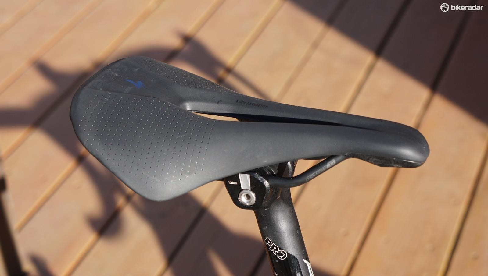 The Specialized Power Arc is a slightly more curved version of the relatively flat Power