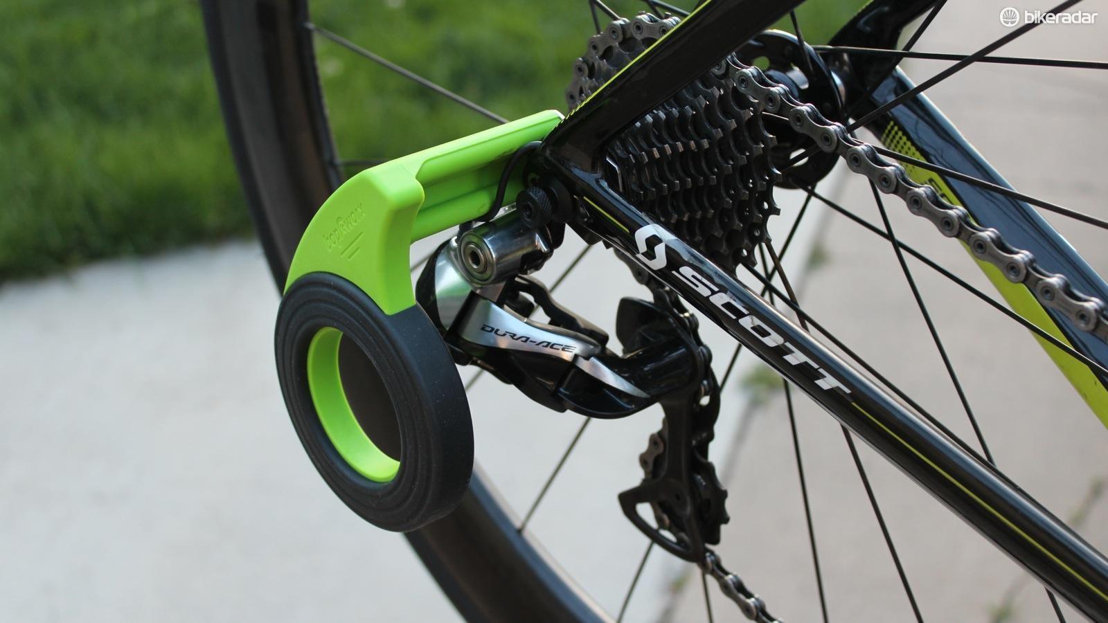 The Bopworx Rear Derailleur Guard/Mech Bike Packing Solution