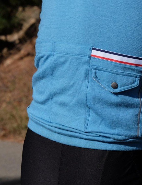 Okay, so it's not a total Rapha knock-off. But it is close with the merino/poly blend and styling