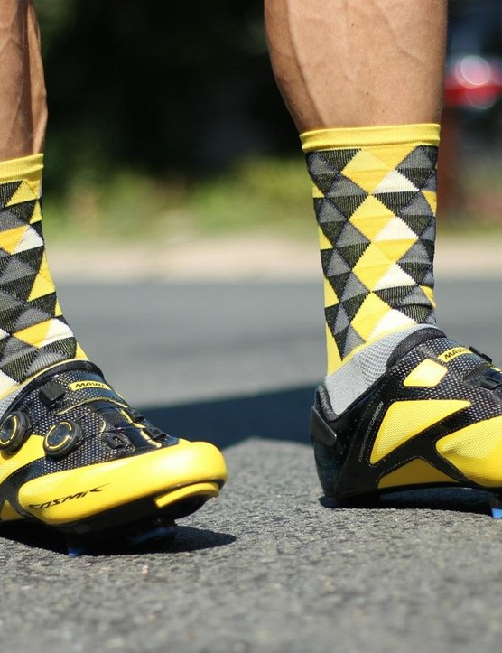 Sako7 socks come in a range of styles —none of them subdued