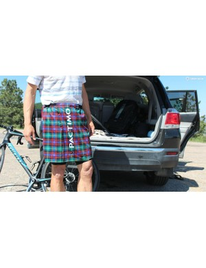 A simple Velcro strip keeps the kilt in place, and it's far lighter (and more secure) than a towel