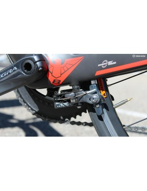 A direct-mount caliper arguably keeps the rear brake out of the wind but not necessarily out of the road grime