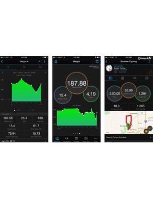 The scale uploads your information to Garmin Connect, where you can view the daily data and the trends