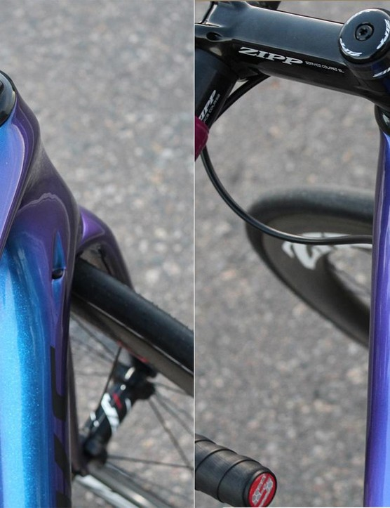 This paint looks either blue or purple, depending on how the light hits it