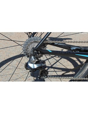The RideSense ANT+ sensor on the chainstay can transmit wheel speed and cadence info to almost any computer