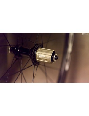 Anti-bite strips on the freehub body help stop damage caused by cassettes