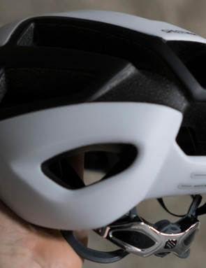 Large vents at the rear of the helmet help draw air out