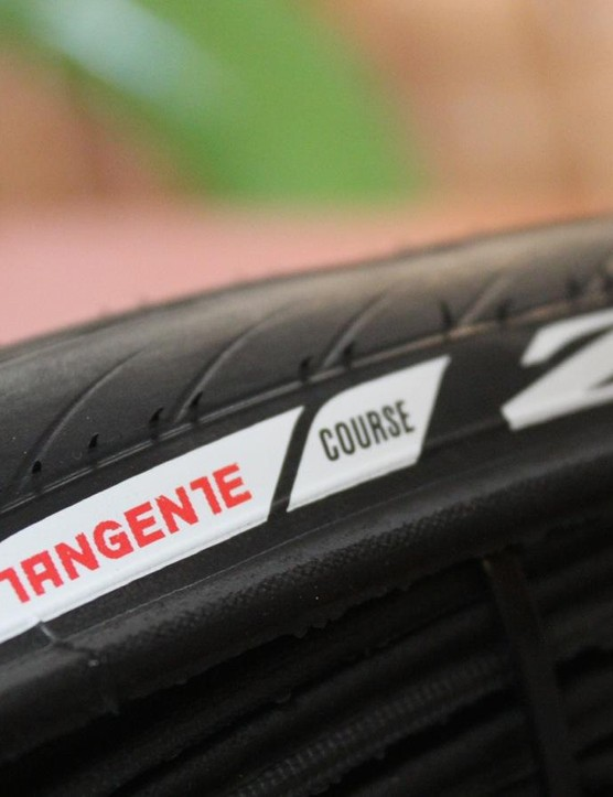 The Zipp Tangente Course was redesigned to lower rolling resistance, but contains a puncture-protection strip for durability, too
