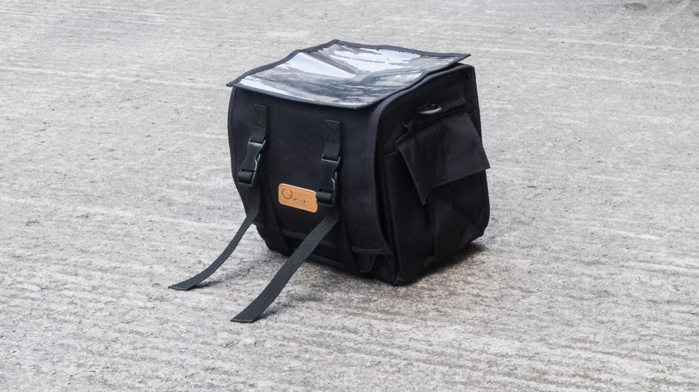 Ostrich makes lots of handsome waxed cotton bags, but we decided to go for simple black nylon