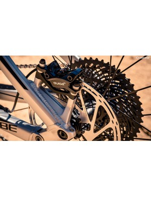 The Guide RE brake is identical to the Guide DH seen on some Specialized DH bikes and is seriously powerful