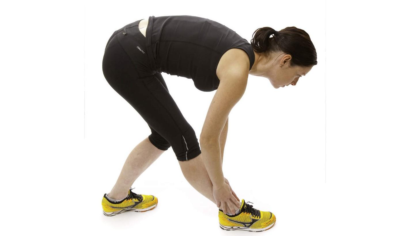 Dynamic hamstring stretch