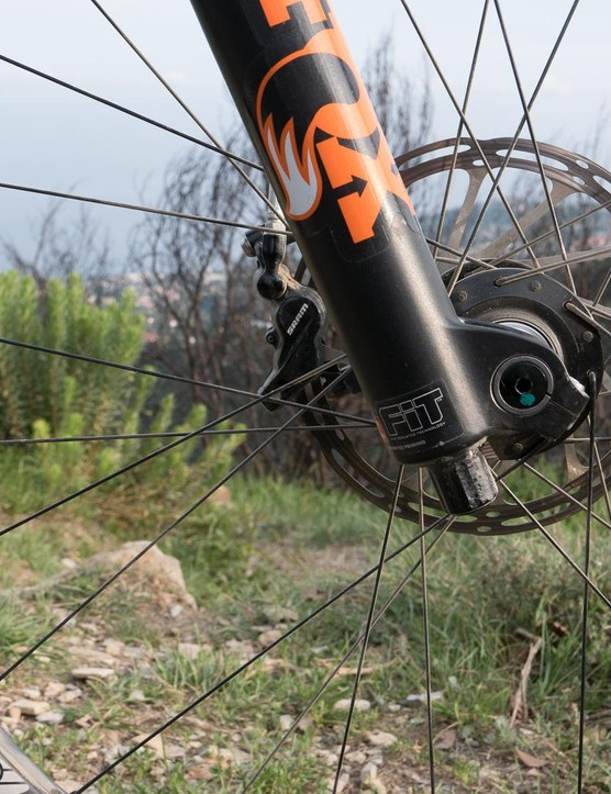 e*thirteen's TRS wheels sport a moderately-wide 28mm internal width, which Manuel thinks is a good compromise for racing
