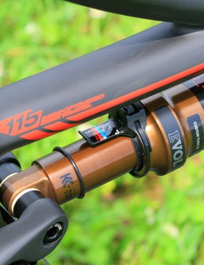 Fox shocks don't come with sag markings, so Pivot make it easy
