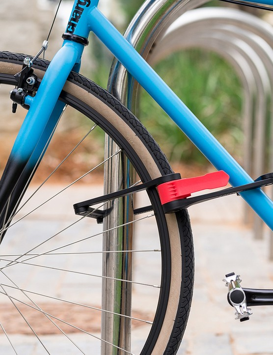 The Clipster is long enough to secure most frames and front wheels