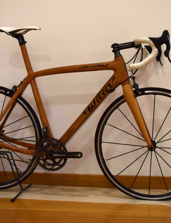 We're just going to leave this wooden bike here...