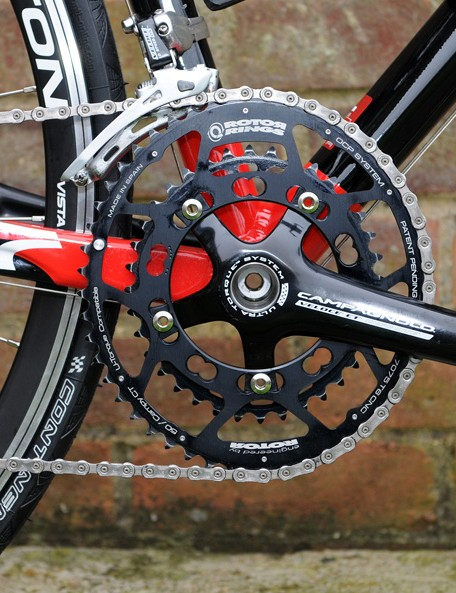 The BMC UK Racing Team's training bikes are already being equipped with Rotor's Q Rings
