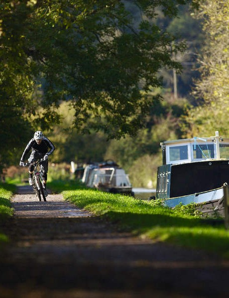 Towpath rides are great because the path is totally flat, so it's all about pedalling and just spinning your gears