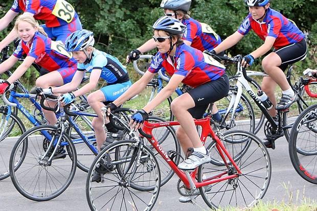 Children enjoying cycling