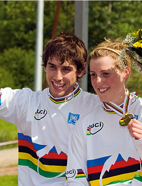 World downhill champions Rachel and Gee Atherton