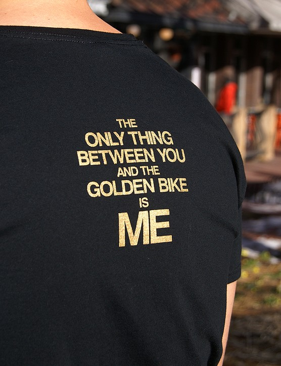 Sweet t-shirt to go with a sweet bike.