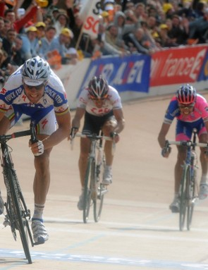 Belgian Tom Boonen won his second Paris-Roubaix before getting busted for cocaine use, taking away his chance at racing the 2008 Tour de France.
