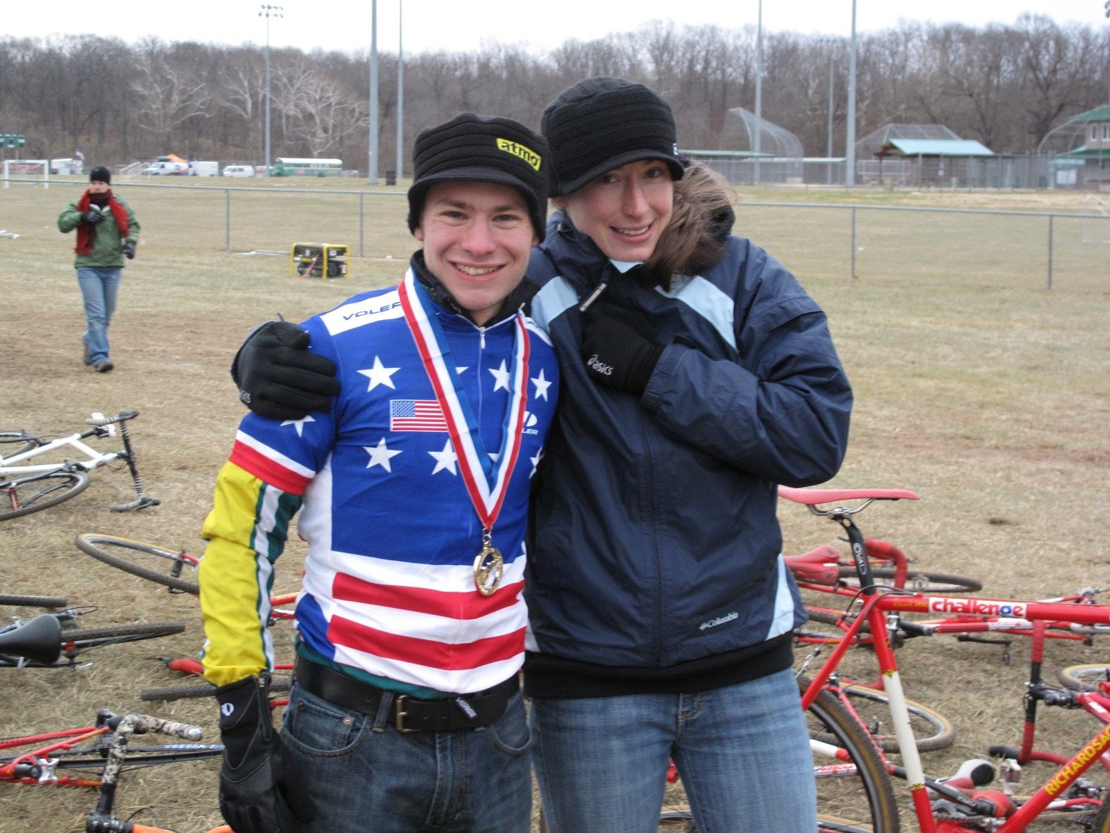 Under 23 cyclo-crosser Will Dugan (L) is racing the World's in the Netherlands January 31, 2009.